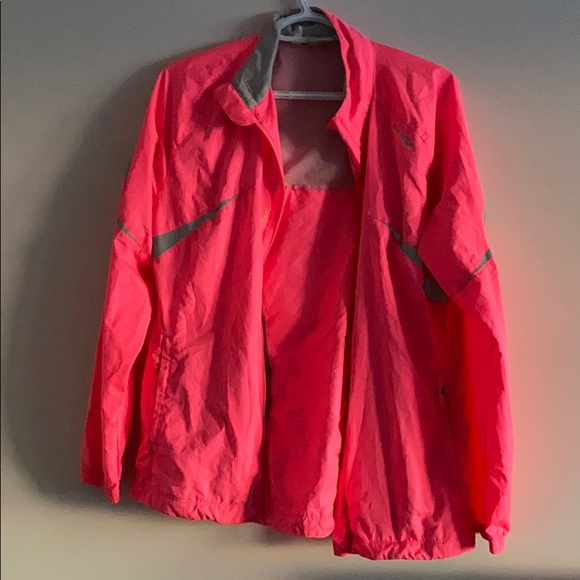 Brooks hot pink light up running jacket